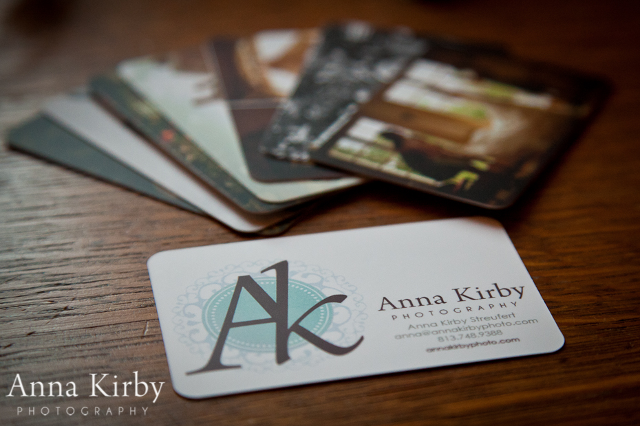 Wedding photographer business card anna kirby photography south big thank you to all of the spectacular local business that agreed let me leave my cards how do you like them reheart Image collections